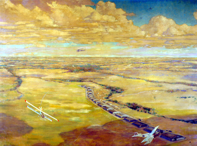 Frank Johnston. Camp Borden, 1919. Oil on Canvas, (137.6 x 183.6 cm). CWM no. 19710261-0242
