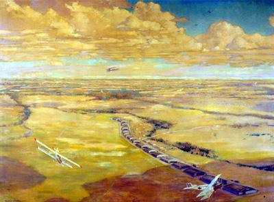 Frank Johnston. Camp Borden, 1919. Oil on Canvas, (137.6 x 183.6 cm). CWM no. 19710261-0242