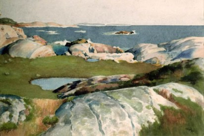 Norman K. Hay. Prospect, Nova Scotia, c. 1933. Watercolour on paper, (28.3 x 38.8 cm) Art Gallery of Nova Scotia no. 1976.22