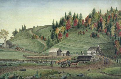 A View of the Bridge on the River La Puce near Quebec in Canada, Taken near 1790, 1790. Watercolour over graphite on laid paper (34.1 x 51.5 cm). NGC no. 6278