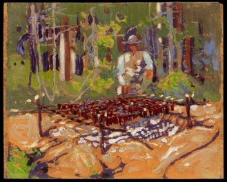 Tom Thomson. The Poacher, 1915. Oil on wood panel, (21.5 x 26.8 cm). AGO ID. 69193