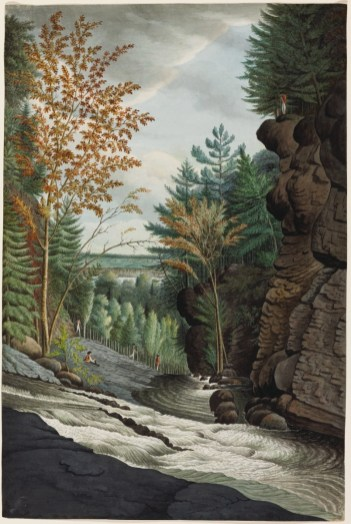 Thomas Davies. View on the River La Puce near Quebec in Canada, 1792. Watercolour over graphite on laid paper (51.3 x 34.2 cm). NGC no. 6274