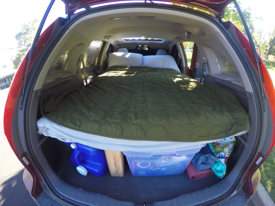 folding chair mattress foam navy velvet dining chairs how to turn your suv into a camper
