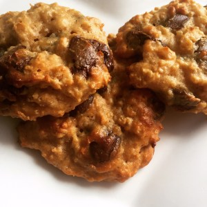 Peanut Butter Dark Chocolate Quinoa Oat Cookies