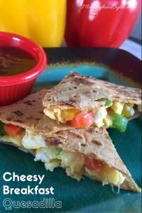 Cheesy Flatout Breakfast Quesadilla