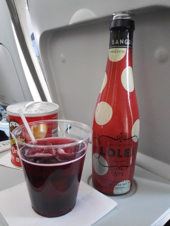 Cutest little sangria on the plane