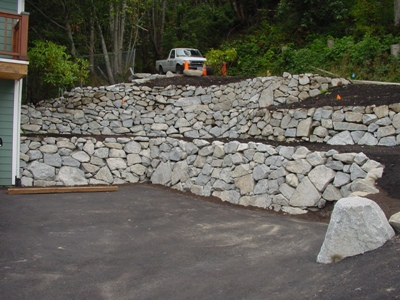 rock walls landscaping