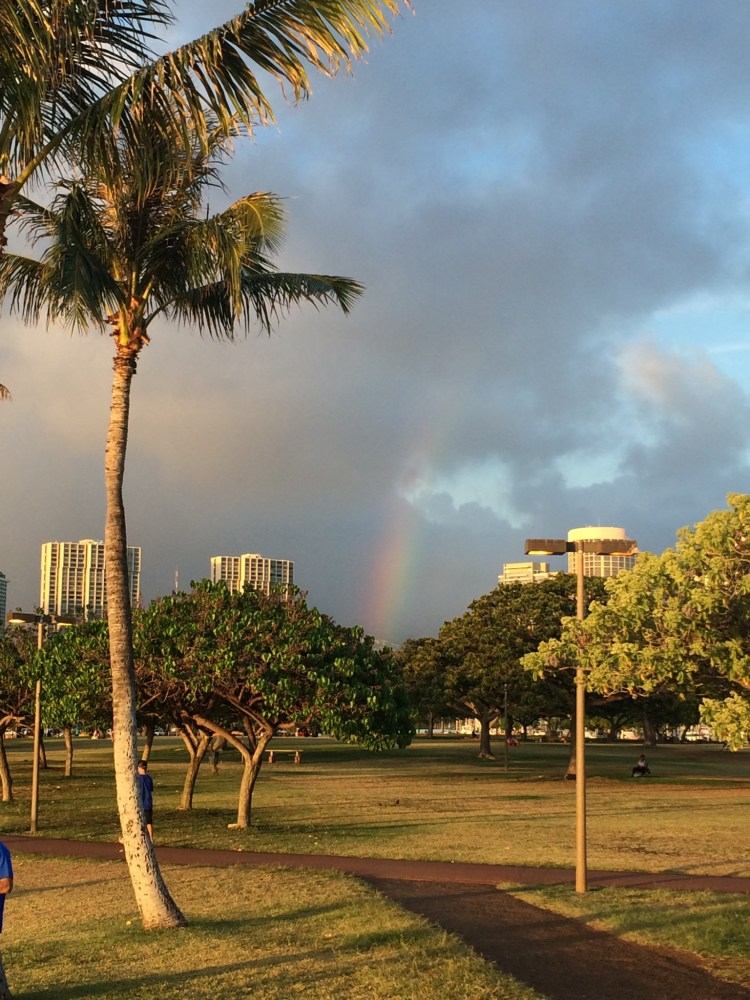 Our first Hawaiian rainbow