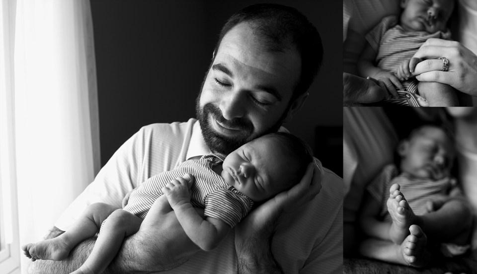 Lifestyle Newborn Photography Black and White Fairfax Virginia
