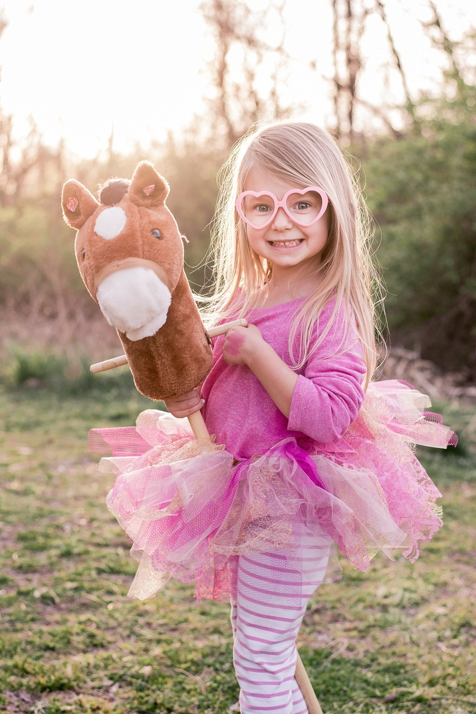 Fifth Birthday Pics with horse