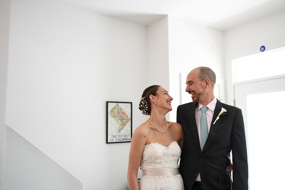 First Look Wedding before Washington DC Wedding by Erin Tetterton Photography