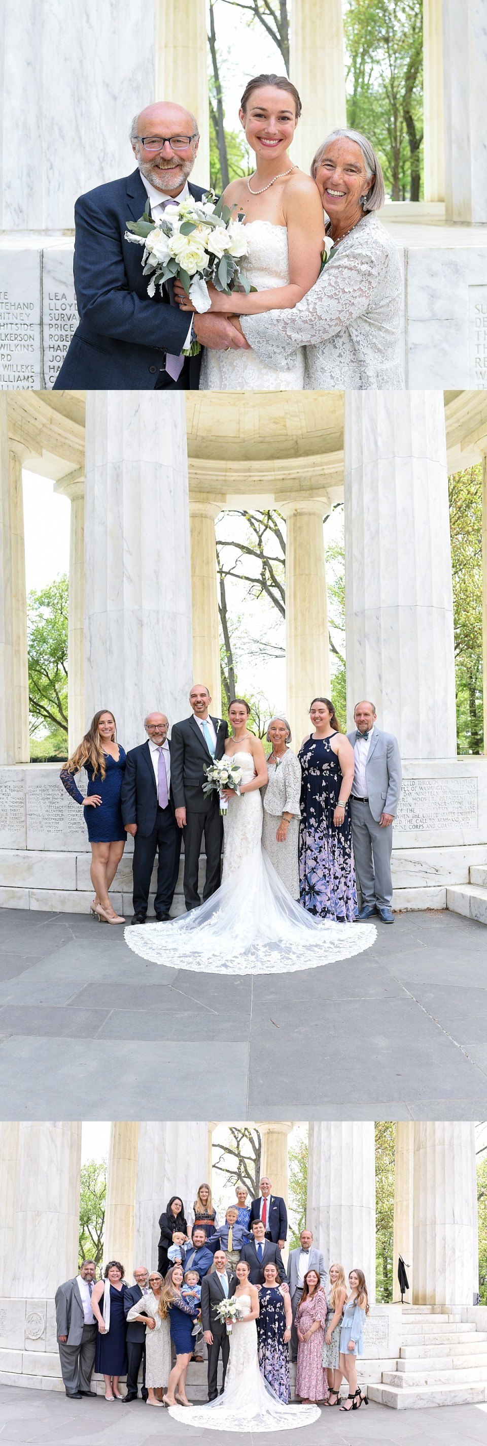Family Portraits at DC War Memorial Wedding