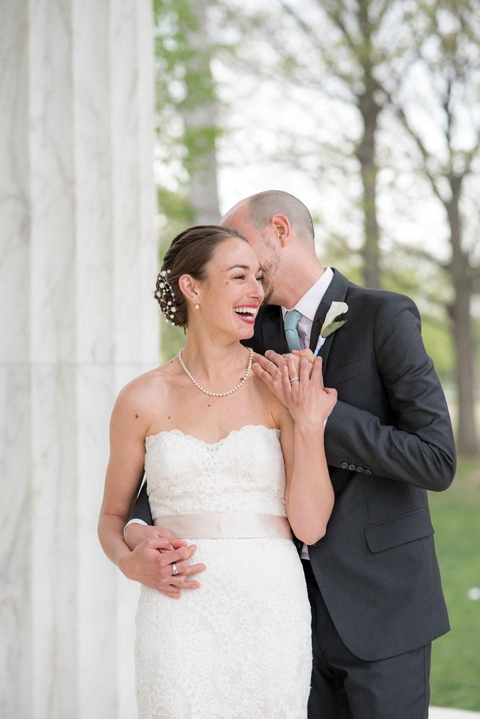 DC War Memorial Wedding Portraits by Erin Tetterton Photography