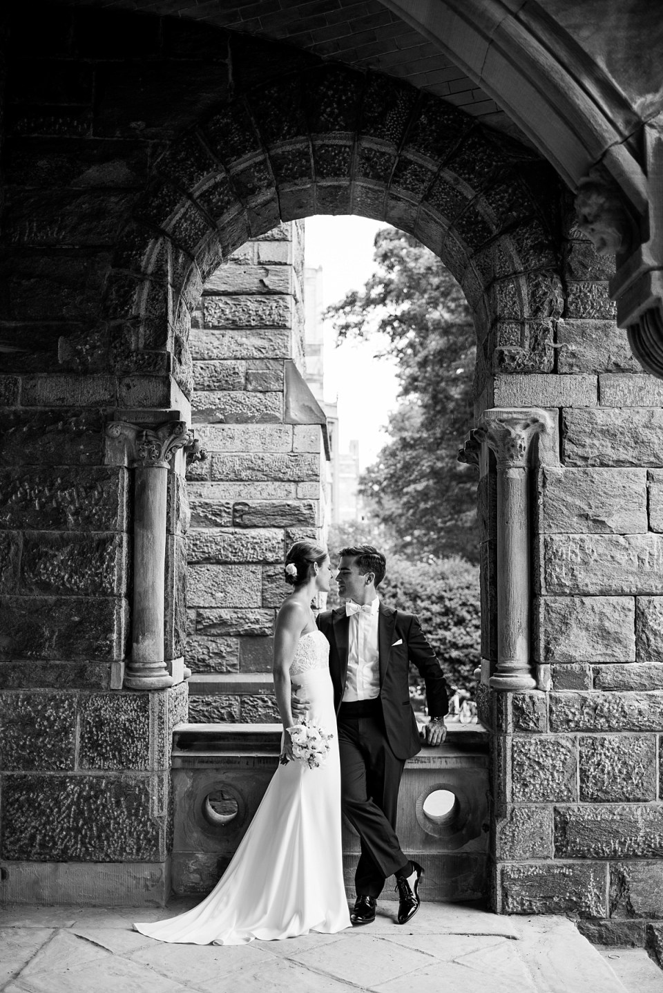 Wedding photos at Georgetown University