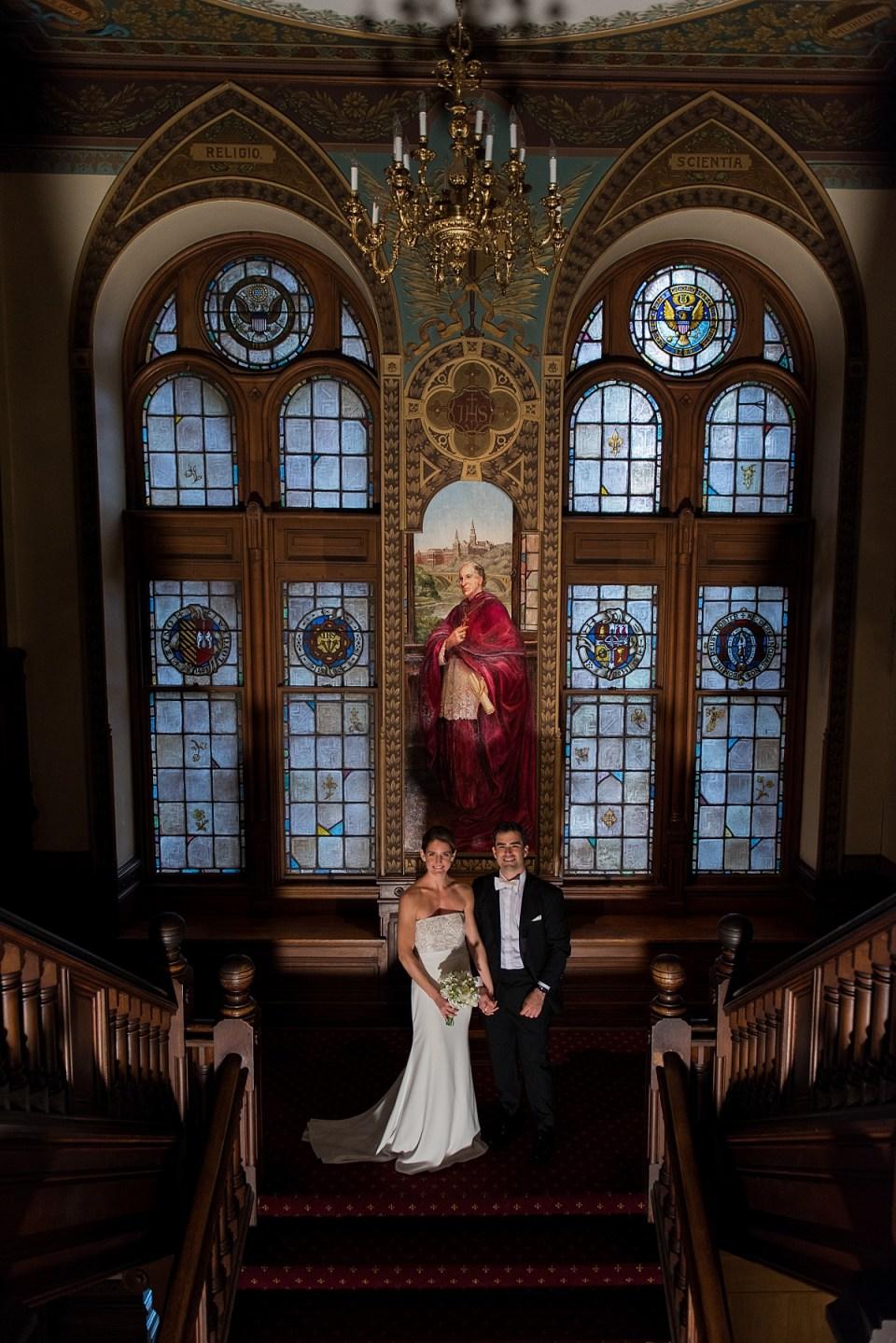 Wedding Photos inside Healy Hall