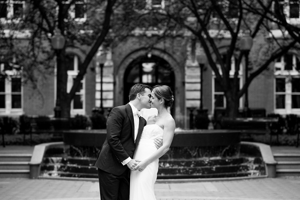 First Look at Georgetown University before Dahlgren Chapel Wedding