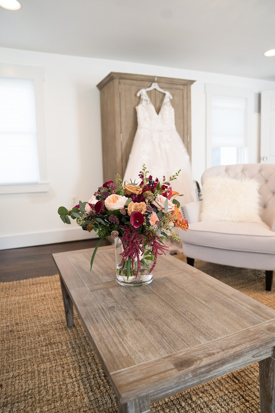 Farmhouse Bridal Suite at 48 Fields in Leesburgh, VA