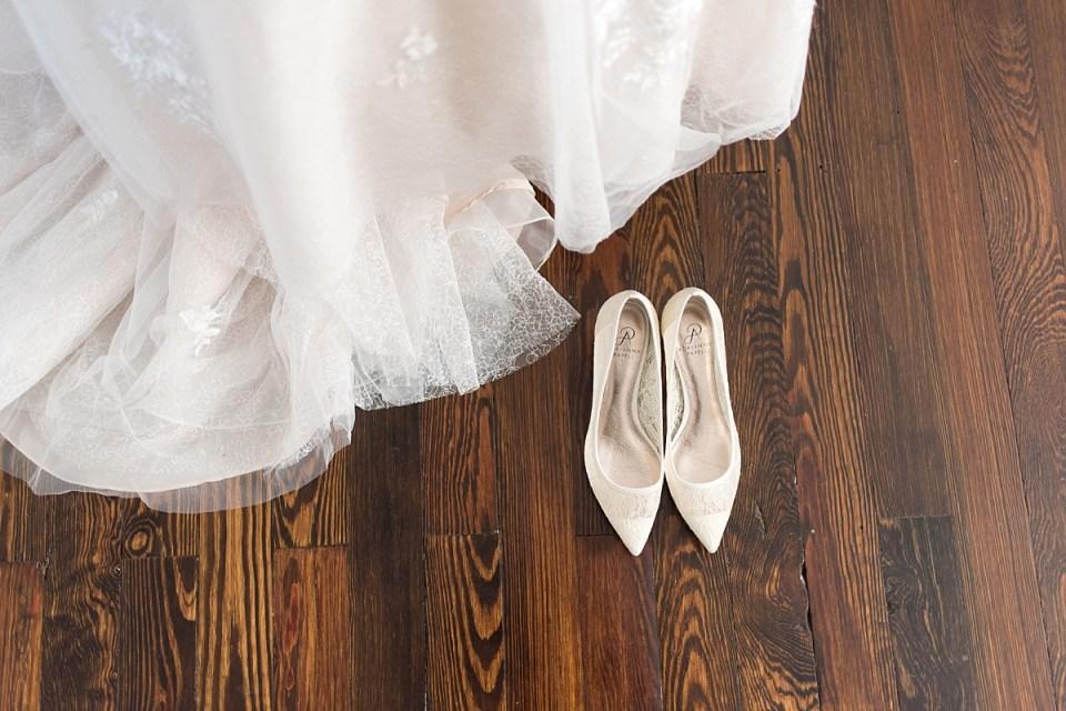 Wedding Dress & shoes at leesburg wedding