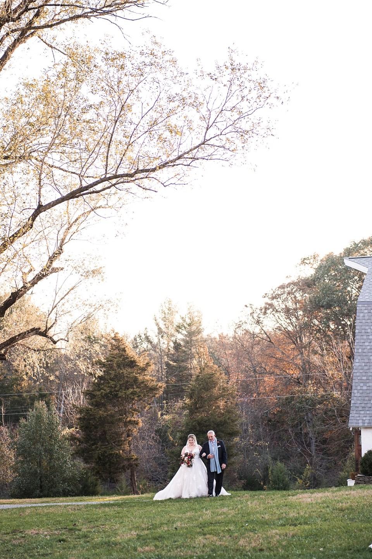Outdoor Ceremony at 48 Fields Wedding in Leesburg, VA