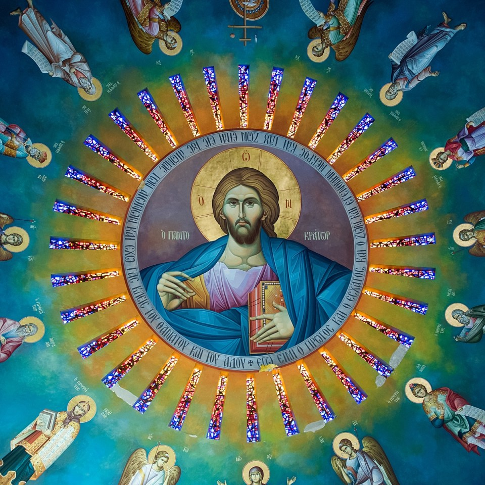 The ceiling of St. Katherine's Greek Orthodox Church in Falls Church, VA