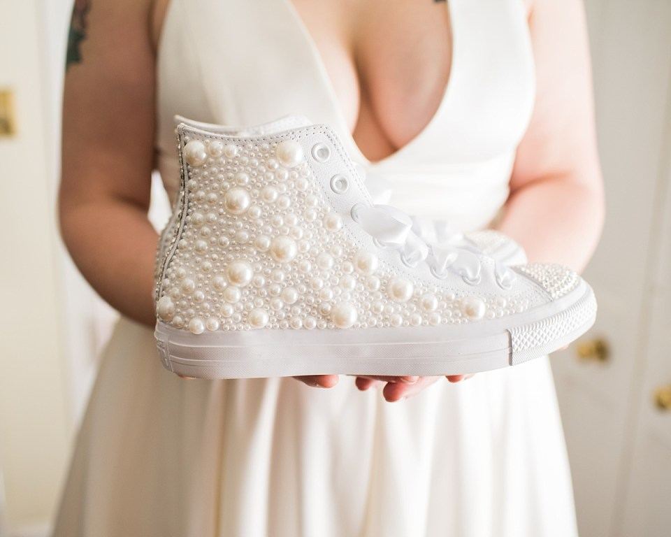 DIY Chuck Taylors for Wedding Day