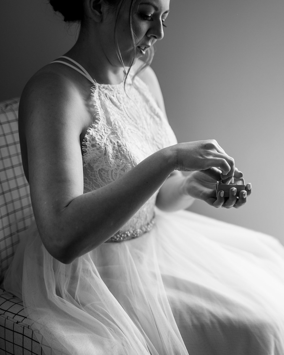Bride Getting Ready for Old Town Alexandria Wedding at Hotel Indigo