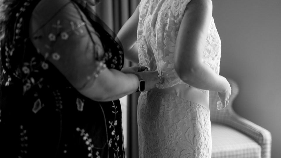 Short Wedding Dress at Old Town Alexandria Wedding