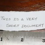 A Very Short Document