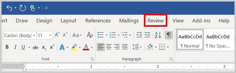 Image of Word 365 /Word 2019 Review Tab | Four Tips for Using the Spelling and Grammar Check in Word