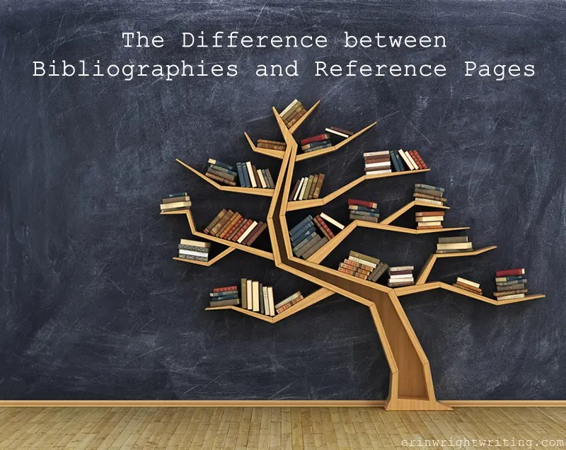 The Difference between Bibliographies and Reference Pages   Image of Tree-Shapped Bookshelf