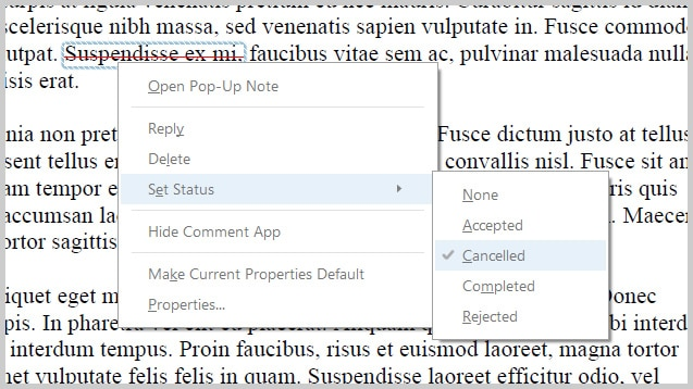 Adobe Acrobat DC Status Set