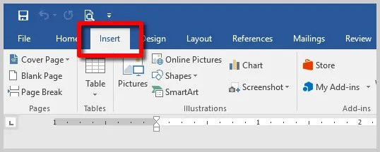 Three Ways to Insert Accent Marks in Microsoft Word | Image of Word 2016 Insert Tab
