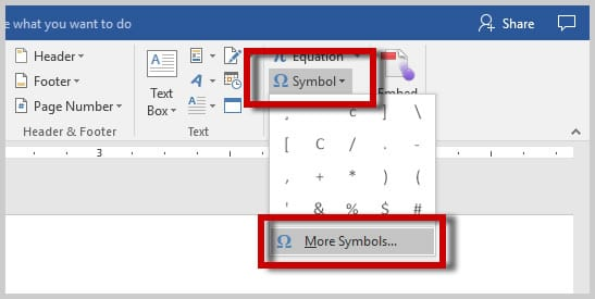 Microsoft Word 2016 More Symbols Option | How to Insert Nonbreaking Spaces in Microsoft Word