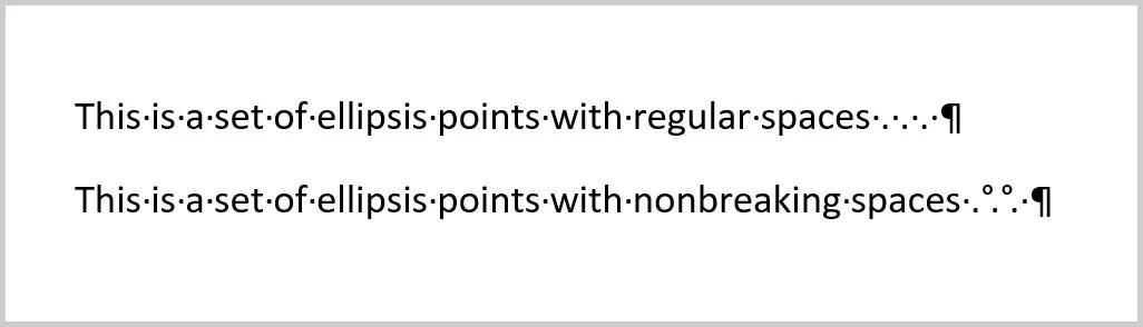 Nonbreaking Spaces versus Regular Spaces | How to Insert Nonbreaking Spaces in Microsoft Word
