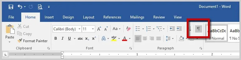 Microsoft Word 2016 Show/Hide Button | How to Insert Nonbreaking Spaces in Microsoft Word