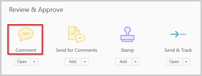 Comment Button in Adobe Acrobat DC Tools Center | How to Print PDFs with Comments and Mark-Ups in Adobe Acrobat DC