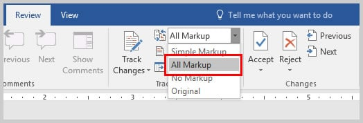 Microsoft Word 2016 All Markup | Copy and Paste Microsoft Word Comments