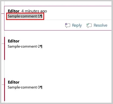 how to add comments to ms word files