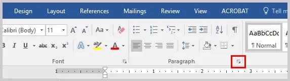 Word 2016 Paragraph Dialog Box Launcher | Three Ways to Indent Paragraphs in Microsoft Word