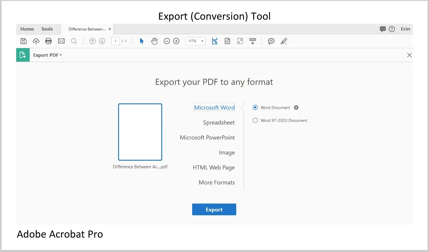 Adobe Acrobat Pro Export Tool | Three Differences between Acrobat Reader and Acrobat Pro