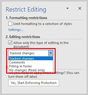 Microsoft Word Restrict Editing Task Pane Editing Restructions Options | How to Restrict Editing in Microsoft Word
