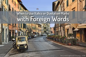 When to Use Italics or Quotation Marks with Foreign Words