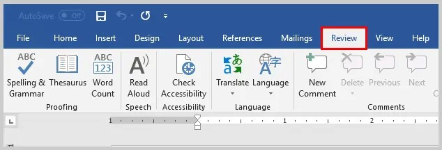 Image of Microsoft Word Review Tab | How to Search Within Comments in Microsoft Word