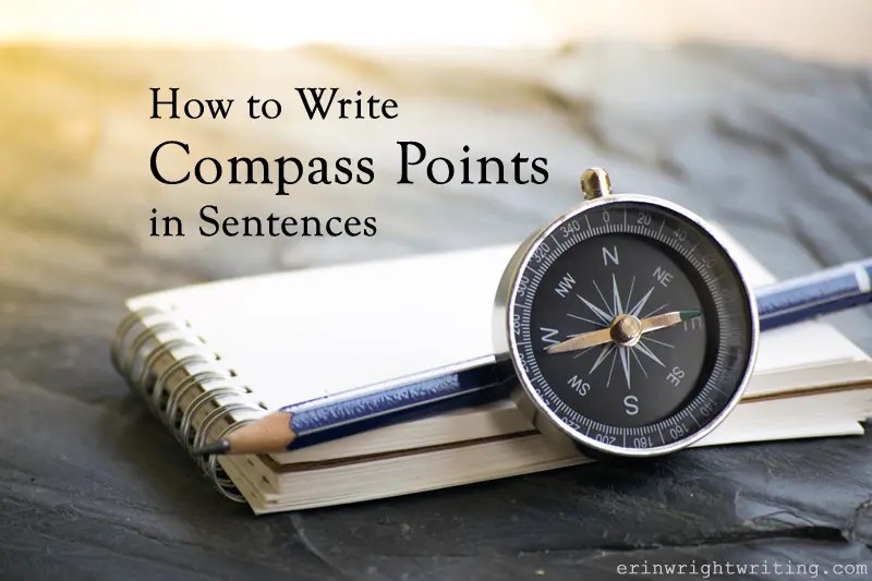 Image of Compass, Pencil, and Notepad | How to Write Compass Points in Sentences