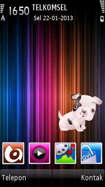 anjing duduk cute avatar by erit07