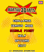 menu martial 3d arts by erit07