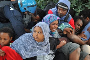 Eritrean refugees in Italy