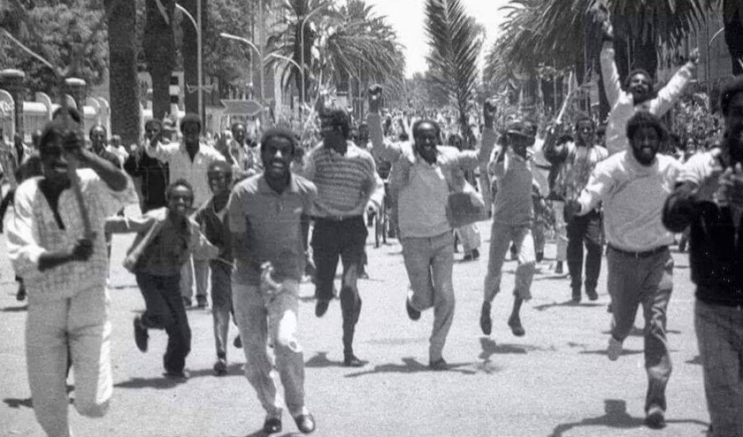 Jubilation on Eritrean liberation day May 1991