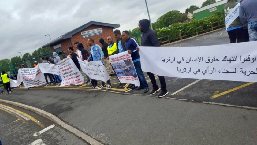 Eritrean protest Manchester
