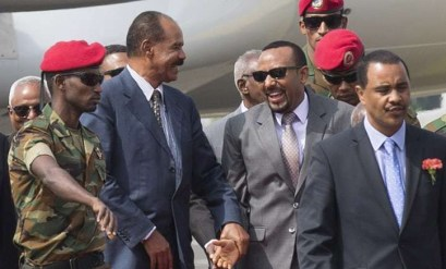 President Isaias arrives Addis